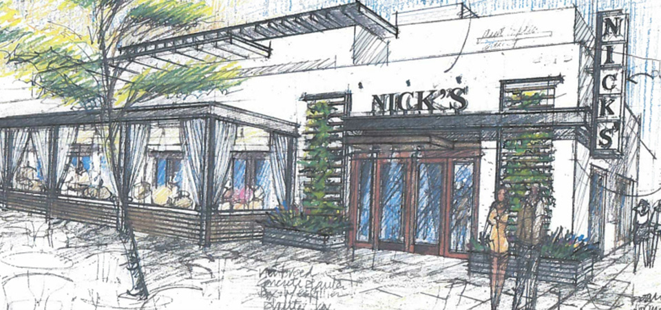 nicks-restaurant-manhattan-beach-drawing